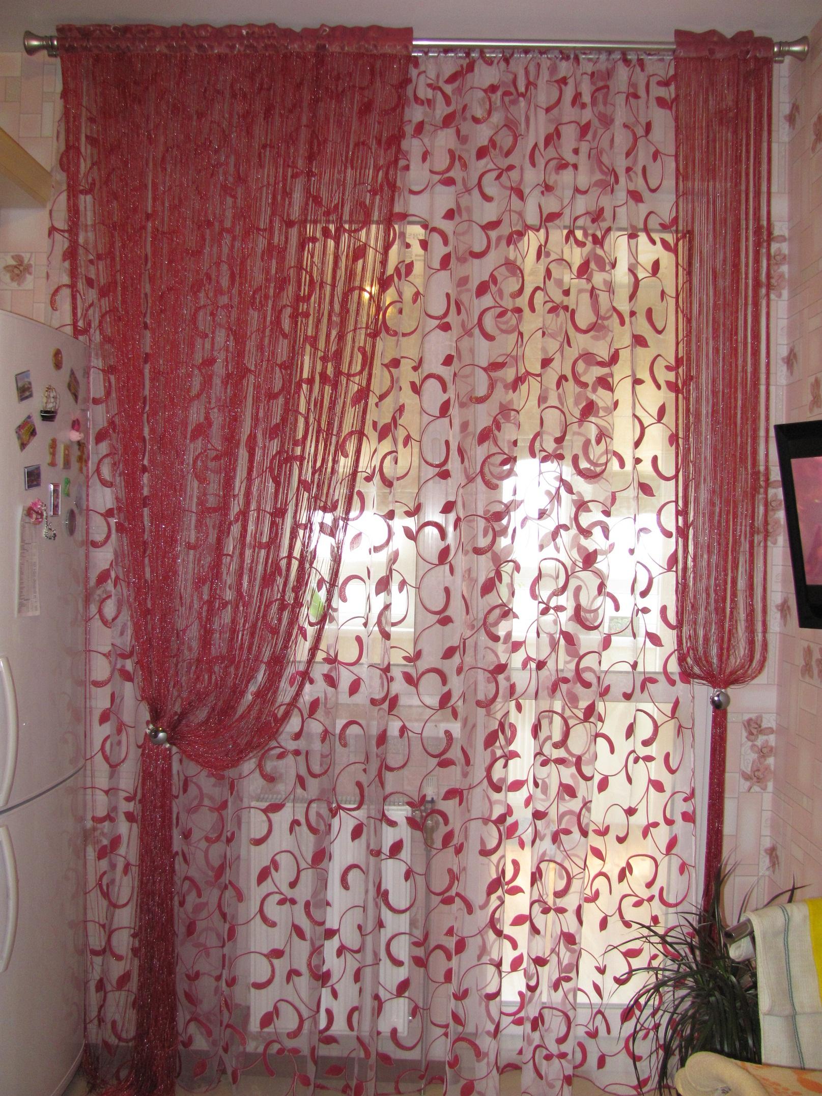 Шторы нити для спальни фото