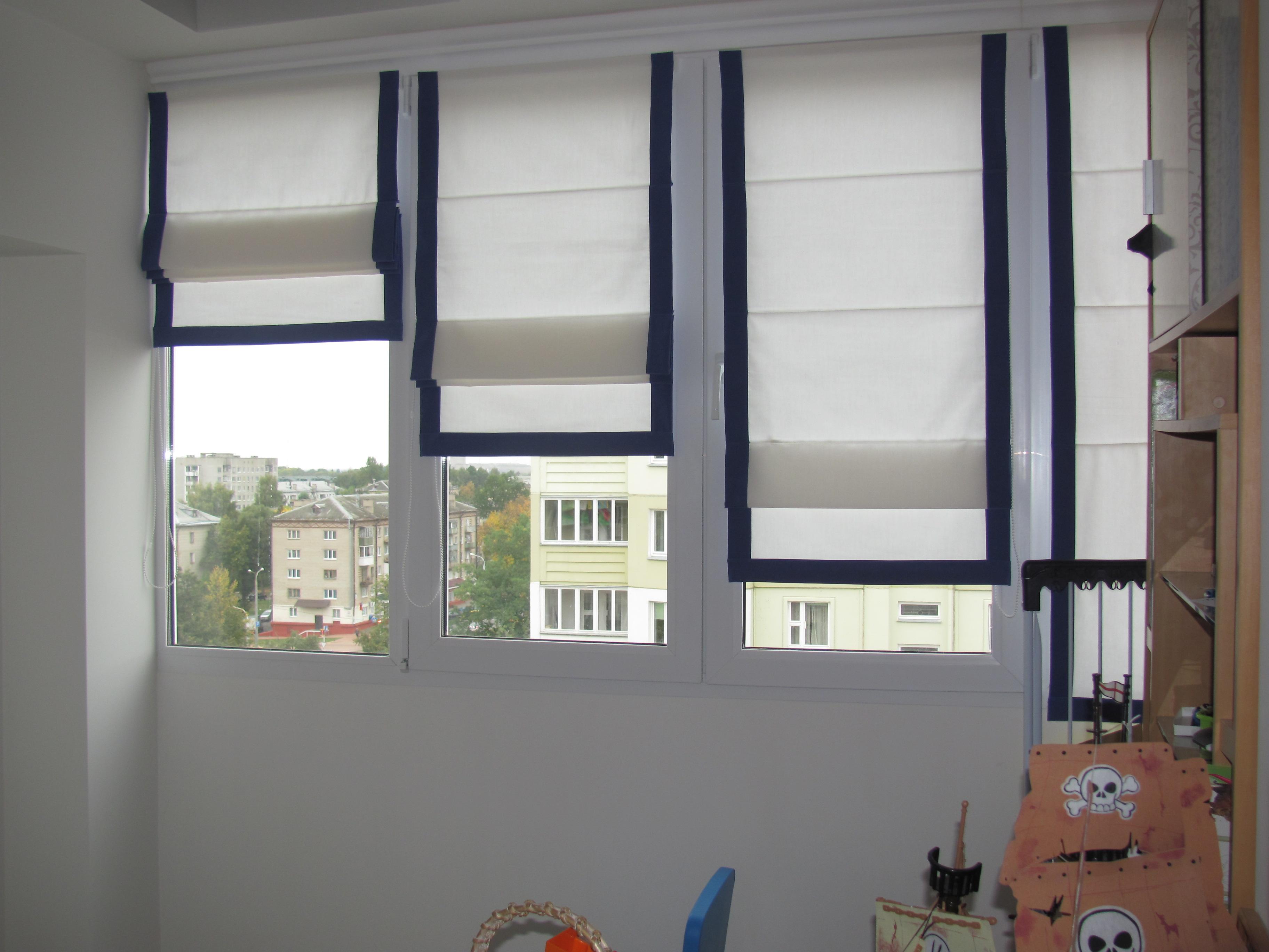Шторы на пластиковые окна своими руками фото