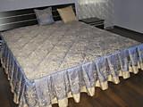 Покрывало с оборкой на кровать своими руками фото 26